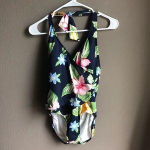 Jantzen Floral Swim Bathing Suit Hawaiian Floral
